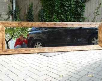 Handmade Wood Mirror 250 x 70cm