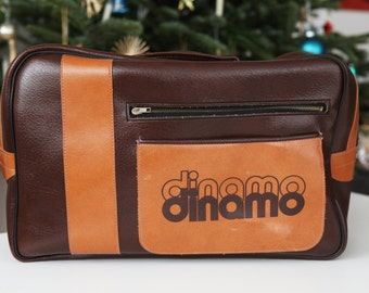 Brown retro sport shoulder bag from the Soviet Union