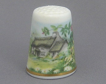 Royal Worcester Thimble - Cottage Garden