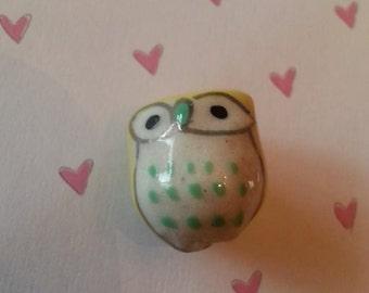 15 mm Porcelain Owl Beads
