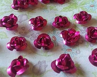 10mm Tiny Rose Aluminum Spacer Bead