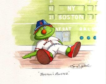 Boston's Monster: Red Sox (Print)