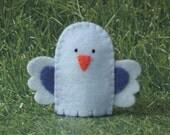 Bluebird Finger Puppet - Felt Bird Puppet - Felt Animal Puppet Bluebird - Garden Blue Bird Puppet