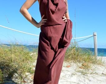 White Tara Devotional Organic Maxi Dress. Sustainable organic hemp custom made clothing by Grateful Threads Asheville. Handmade. Conscious.