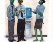 """Break Time 8.5 x 11"""" print by Ray Young Chu"""