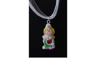 Your Choice Standing Fairy Necklace, Polymer Clay, Fairy Color Choice, Necklace Color Choice, Fairy Princess Necklace