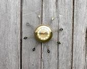 Vintage Starburst United Wall Clock, Mid Century Atomic Mad Men Sunburst Electric Clock, Brass Metal