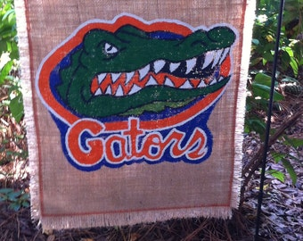 Florida Gators Burlap Garden Flag Collegiate Collection University of Florida Gators