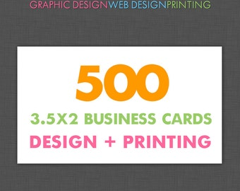 500 Custom Business Cards, Business Card Design and Printing, Printed Business Cards, Business Branding, Printing,