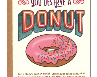 You Deserve A Donut Card