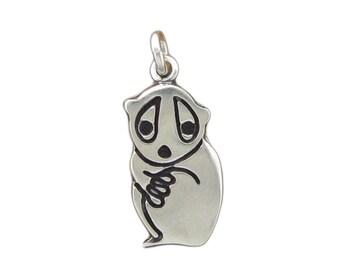 Slow Loris Necklace - Sterling Silver Loris Pendant