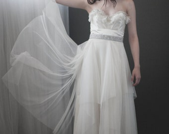 Moon and the Snow Wedding Dress Custom Made to Order -Featured in Style me Pretty