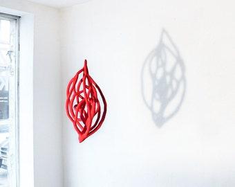 Big crochet sculpture - Red heart