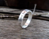 Personalized Ring with Custom Inscription and Hammered Finish