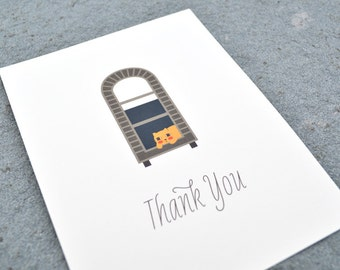 City Cat Thank You Card