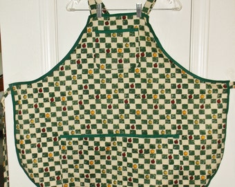 Bib Apron Apples and Squares  #2110