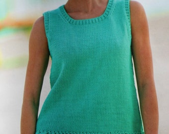 Knitting Patterns Knitter's Magazine Summer 2004 Sweaters Cardigans Women Tank Top Paper Original NOT a PDF