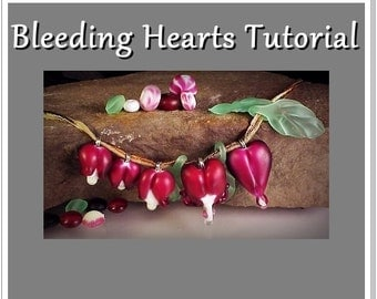 Bleeding Heart Drop Focal Lampwork Glass Tutorial - Floral Bead Step by Step Instant Download