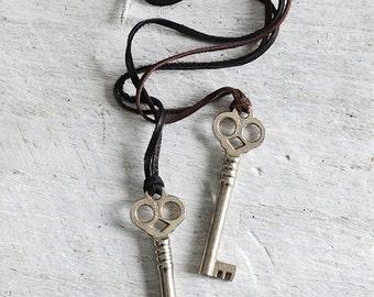 Skeleton Key Necklace - Mens Skeleton Key Necklace - Key Necklace - Key to my heart - Womens Necklace -