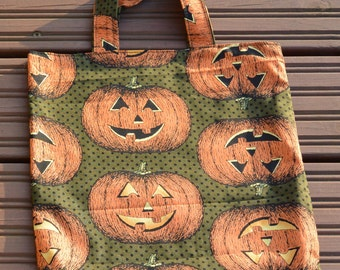 Halloween pumpkin knitting project bag