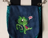 Pouch Spare Pocket Embroidery Zombie Kitty