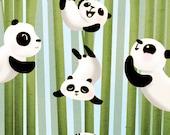 """Pandas, Animal Artwork, Playful, Happy Birthday card - """"Pandamonium"""""""