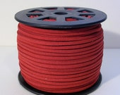 Suede Lace Faux Leather Jewelry Cord 15 feet (C35) Deep Red Cord for Jewelry Necklace Bracelet Stringing Material Vegan Leather Cord