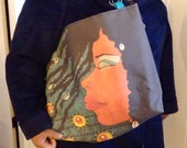 Afrocentric Original Art Large Cloth Tote, Purse,Bag,Accessories