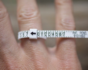 Ring Sizer                    For custom made personalized rings bands stacking rings gemstone custom order sterling silver rings