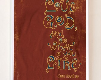 St. Augustine Quote - Digital Print Mini Poster