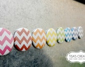 Rainbow Chevron Magnets