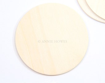 50 Pack 3 Inch Craft Wood Disks.