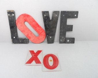 "Love Letters Marquee Style - Vintage Sign Letters -8 1/4"" tall"