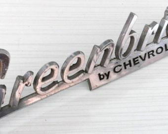 Greenbrier Nameplate Emblem