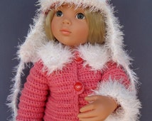 Duck Dynasty A LaRusse Jacket & Hat AG American Girl 18 inch doll crochet pattern (v08)