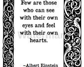 Einstein, Printable Quote Card.