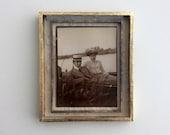 Boating - Sepia and Gold Tone Mixed Media Assemblage Art Box