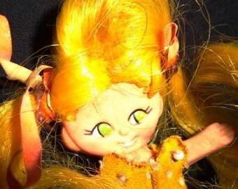 Vintage Miniature Flatsy Doll