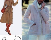 1970s Retro Coat or Jacket Simplicity 8745 Vintage 70s American Hustle Style Sewing Pattern Size14 Bust 36 UNCUT
