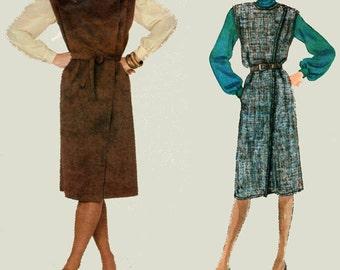 Vintage 1970s Front Wrap Jumper Dress Sewing Pattern Vogue 2833 Designer KASPER Womens Vintage 70s Sewing Pattern Size 10 UNCUT