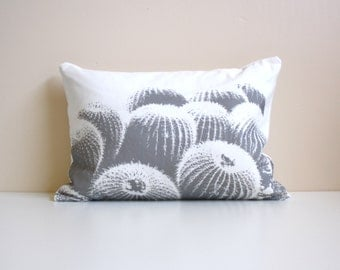 HALF PRICE -  Southwest / Modern Pillow / Desert Modern Barrel Cactus / Lumbar Pillow