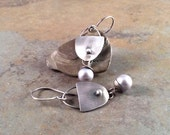 Organic Freshwater Pearl Sterling Silver Earrings