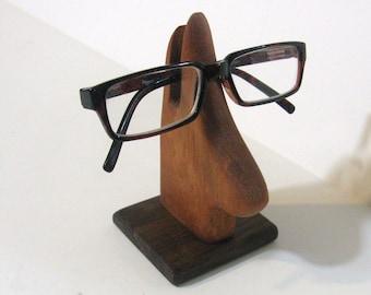 Eyeglass Holder Made Of Mahogany And Walnut Wood