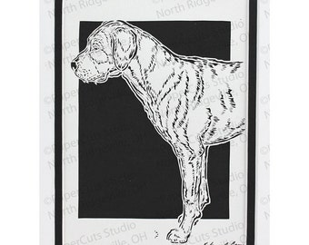 Greater Swiss Mountain Dog Papercutting- Handcut Original