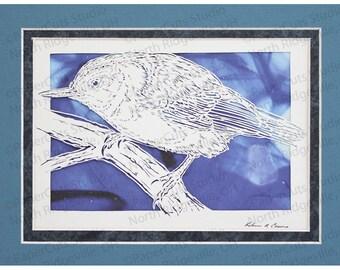 Nuthatch Bird Papercutting- Handcut Original