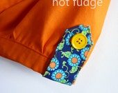 Girl's Bubble Shorts, Orange Sherbet, last one, size 5, ready to ship