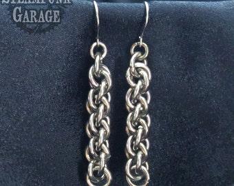 Earrings - JPL Twist Light Chainmaille Weave