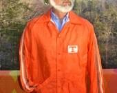 vintage 70s windbreaker jacket UNIVERSITY of TENNESSEE volunteers nylon lined orange vols Medium football