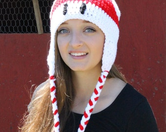 Red Mushroom Ear Flap Hat ~ All Sizes ~ Mario-Inspired