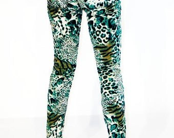 50% OFF SALE Agoraphobix Punk Army zebra & leopard printed pants | skinny jeans | punk pants